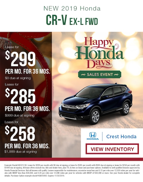 2019 Honda CR-V Lease Specials