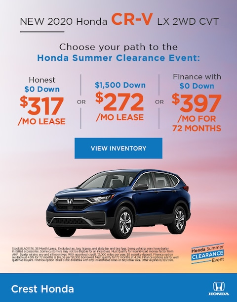 2020 Honda CR-V Lease and Purchase Specials