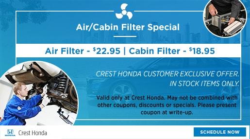 Crest Honda Nashville >> Honda Auto Parts Specials | Honda OEM Serving Nashville TN