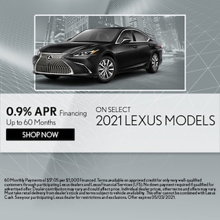 0.9% APR Financing Up to 60 Months
