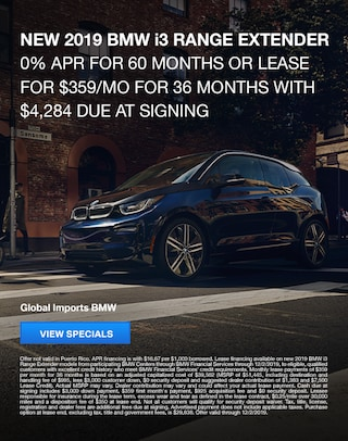 2019 BMW i3 Lease and Finance Specials
