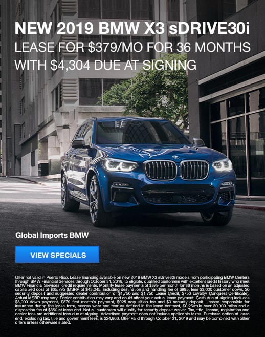2019 BMW X3 Lease Specials