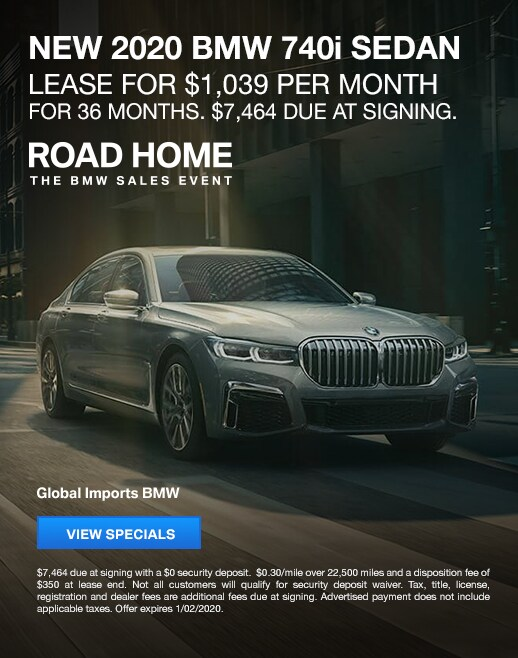 2020 BMW 740i Lease Specials