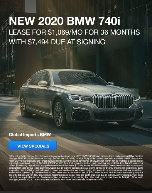 2019 BMW 740i Lease Specials