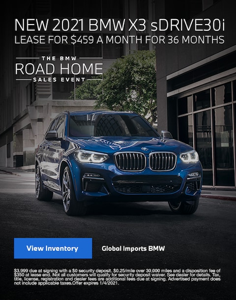 2021 BMW X3 Lease Specials