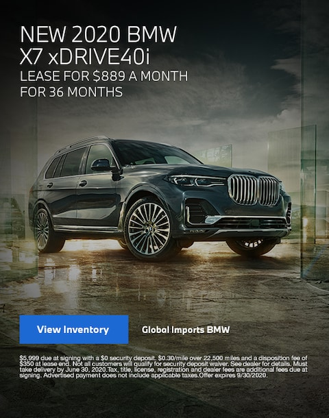 2020 BMW X7 Lease Specials
