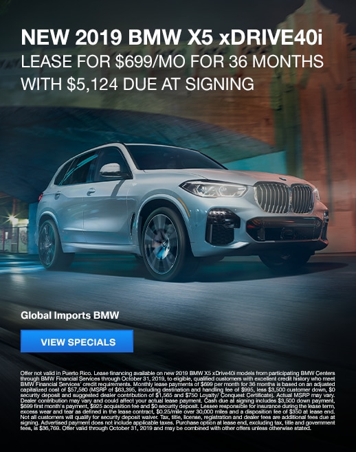 2019 BMW X5 Lease Specials