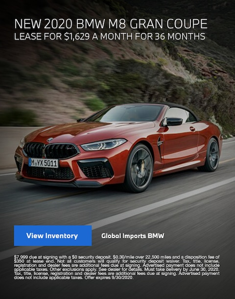 2020 BMW M8 Lease Specials