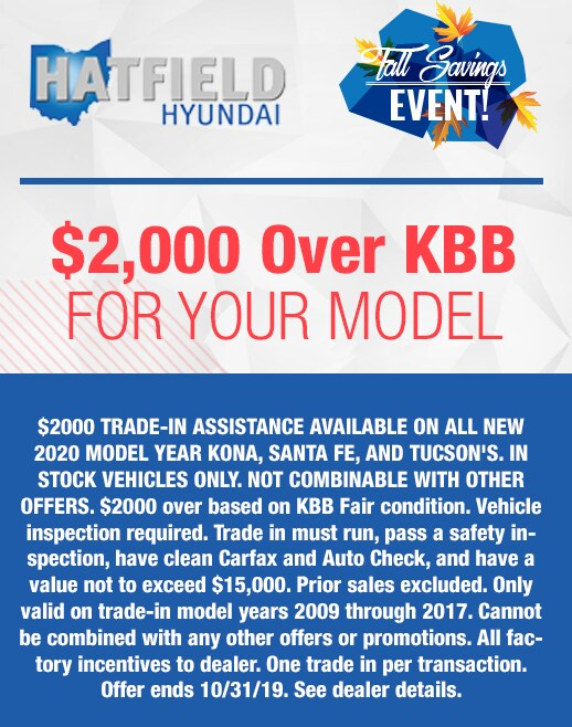 $2000 Over KBB for your Trade-In