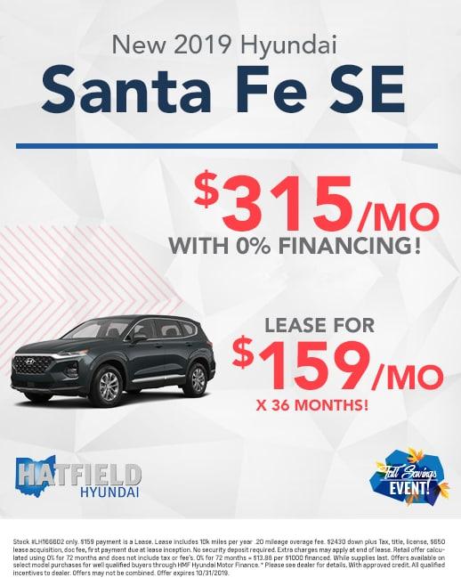 2020 Hyundai Santa Fe Lease & Purchase Specials