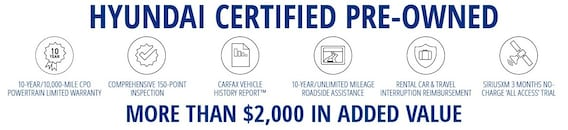Hyundai Certified Pre-Owned >> Hyundai Certified Pre Owned Cars Suvs Dealer Near