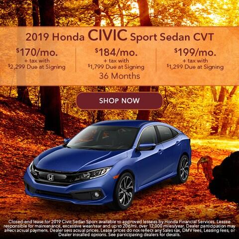 2019 Honda Civic Sport Sedan CVT