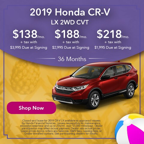 2019 Honda CR-V LX 2WD CVT - Lease