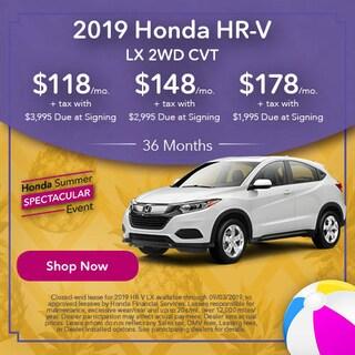 2019 Honda HR-V LX 2WD CVT - Lease