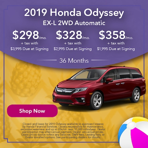 2019 Honda Odyssey EX-L 2WD Automatic - Lease