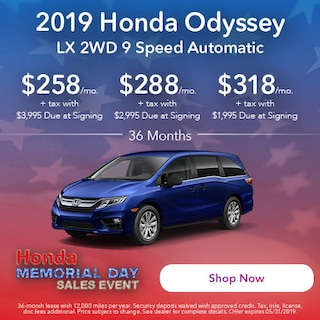 May 2019 Honda Odyssey LX 2WD 9 Speed Automatic