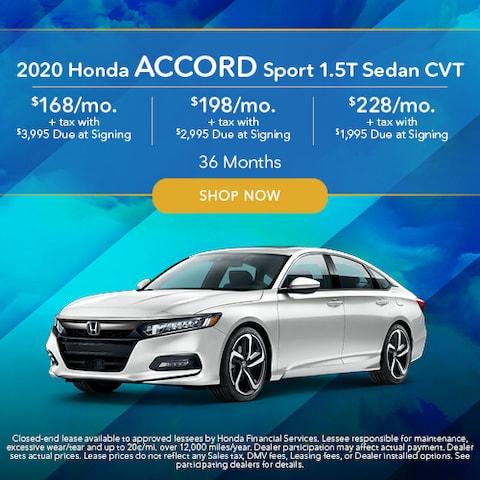 2020 Honda Accord Sport 1.5T Sedan CVT