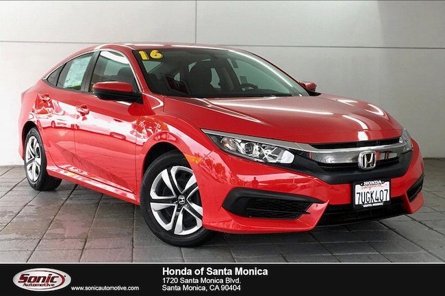 Used 2016 Honda Civic LX Sedan in Santa Monica