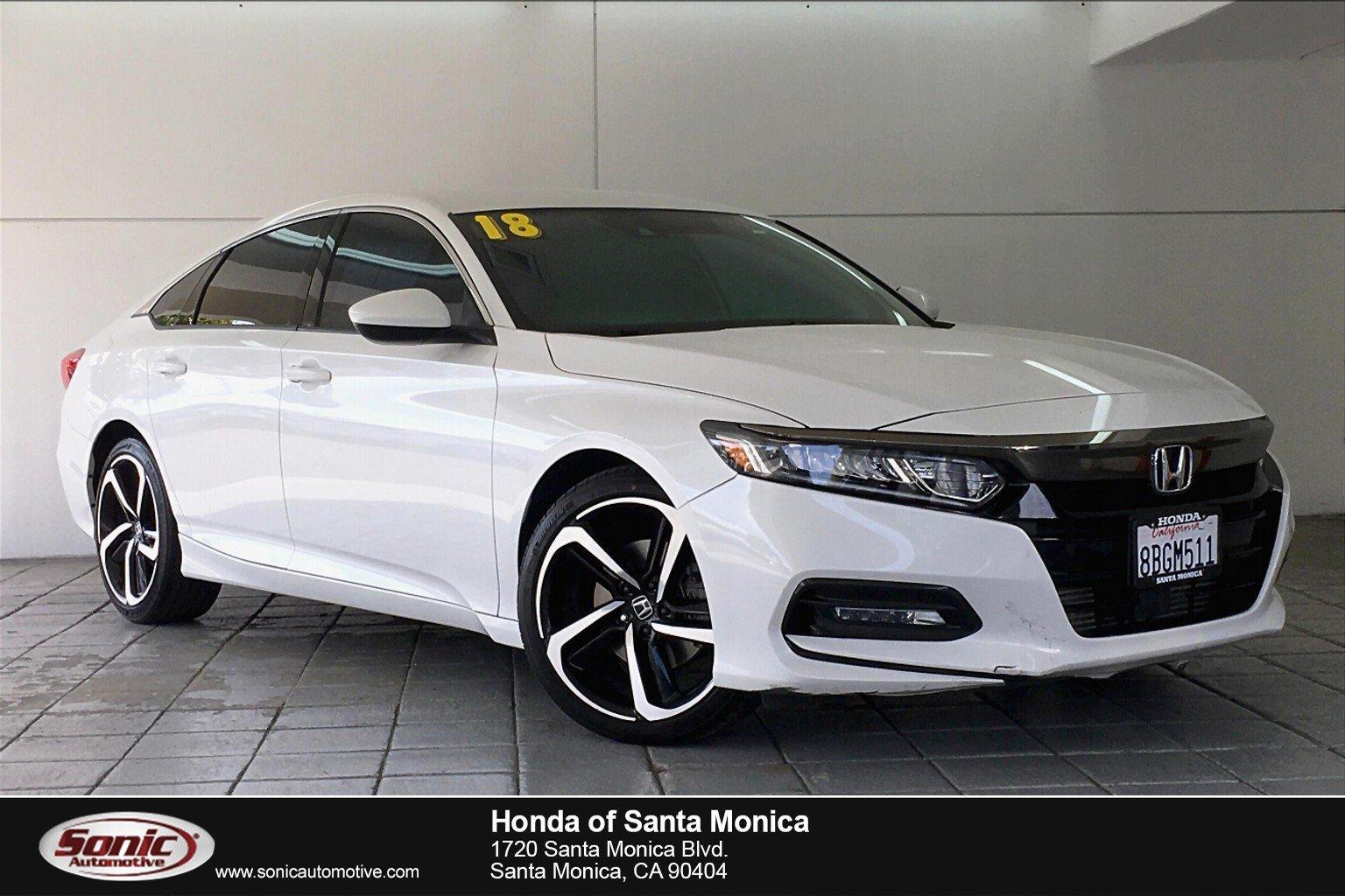 Honda Accord Sport For Sale >> Used 2018 Honda Accord Sport 1 5t For Sale In Santa Monica Ca