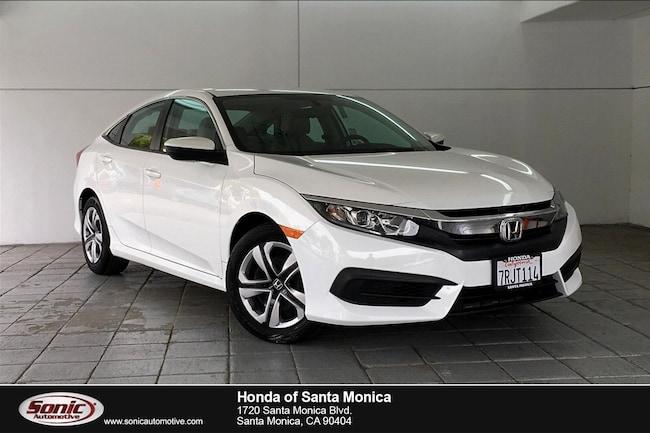 Used 2016 Honda Civic LX Sedan in Santa Monica