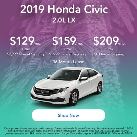 2019 Honda Civic LX - March