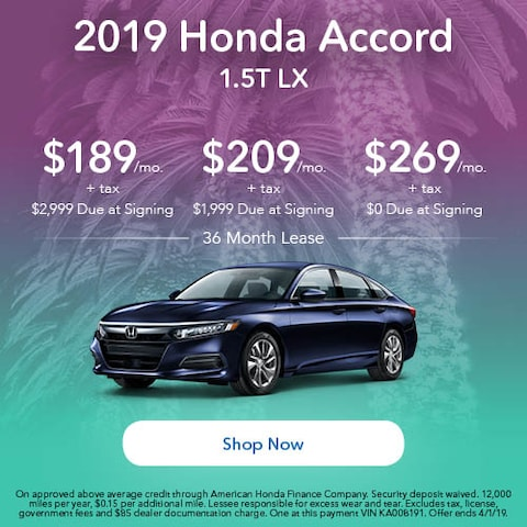 2019 Honda Accord LX - March