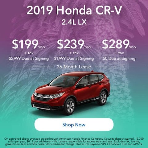 2019 Honda CR-V LX - March