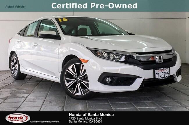 Certified 2016 Honda Civic EX-L w/Honda Sensing Sedan in Santa Monica