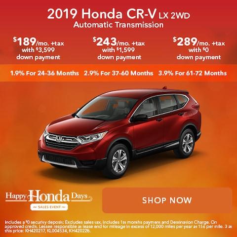 2019 Honda CR-V LX 2WD Automatic Transmission