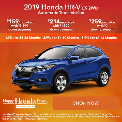 2019 Honda HR-V EX 2WD Automatic Transmission