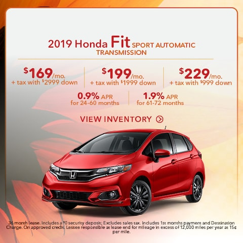2019 Honda Fit Sport Automatic Transmission