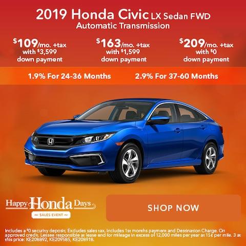 2019 Honda Civic LX Sedan FWD Automatic Transmission