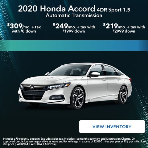 2020 Honda Accord 4DR Sport 1.5 Automatic Transmission