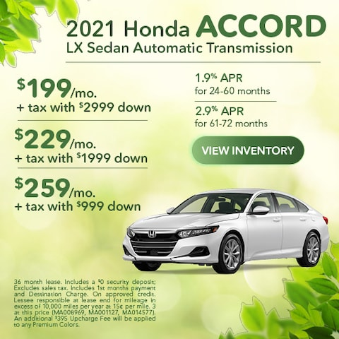 2021 Honda Accord LX Sedan Automatic Transmission
