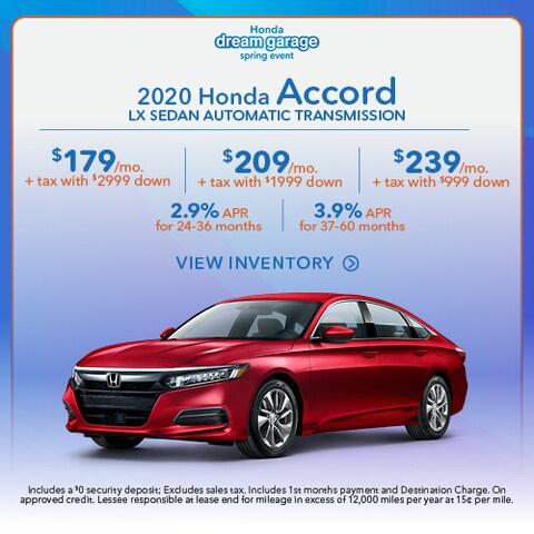 2020 Honda Accord LX Sedan Automatic Transmission