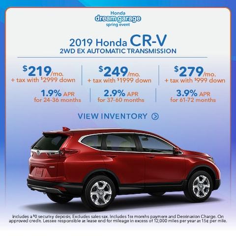 2019 Honda CR-V 2WD EX Automatic Transmission