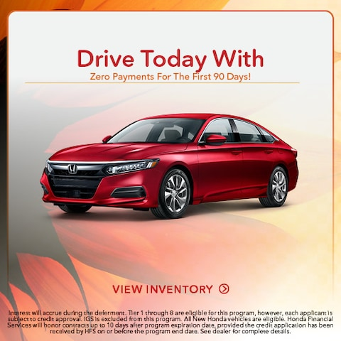 Drive Today With Zero Payments For The First 90 Days!