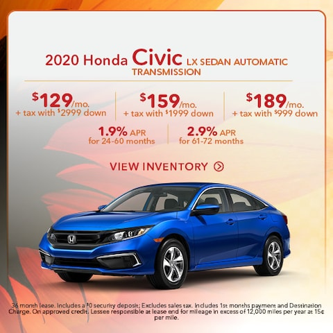2020 Honda Civic LX Sedan Automatic Transmission