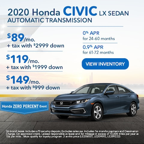 2020 Honda Civic LX Sedan Automatic Transmission