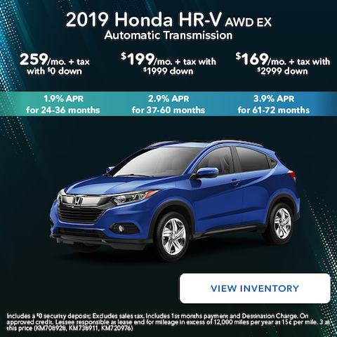 2019 Honda HR-V AWD EX Automatic Transmission