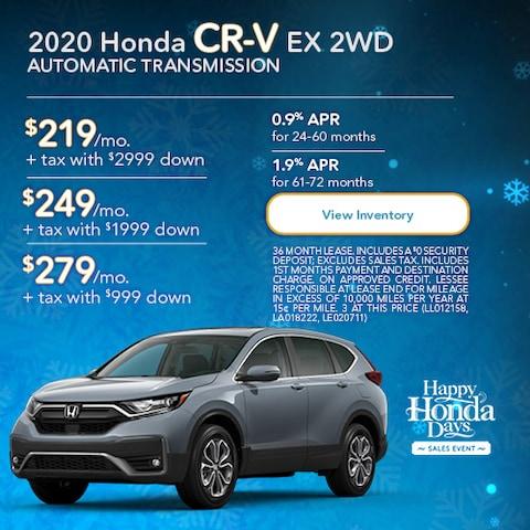 2020 Honda CR-V EX 2WD Automatic Transmission