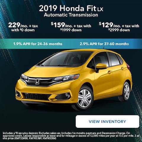 2019 Honda Fit LX Automatic Transmission