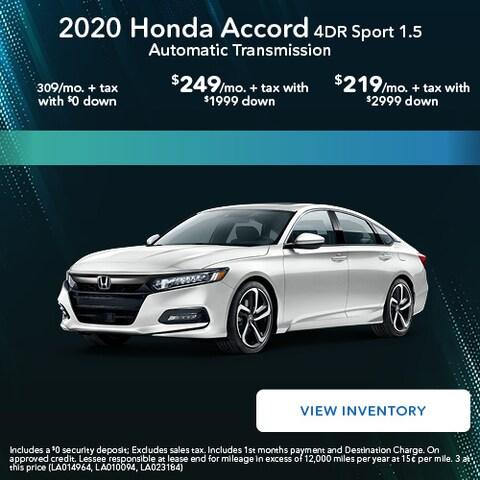 2020 Honda Accord 4DR Sport 1.5 Automatic Transmission