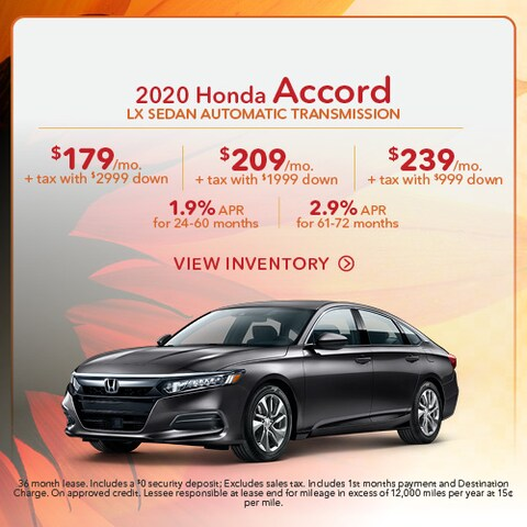 2020 Honda Accord LX Sedan Automatic Transmission