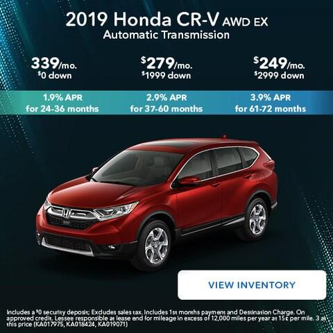 2019 Honda CR-V AWD EX Automatic Transmission