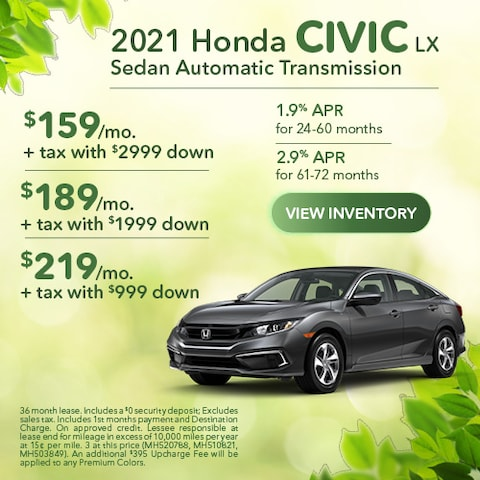 2021 Honda Civic LX Sedan Automatic Transmission