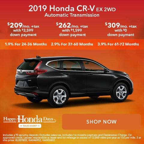 2019 Honda CR-V EX 2WD Automatic Transmission