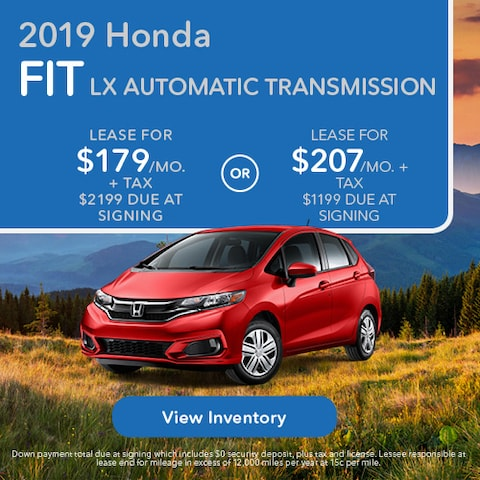 2019 Honda Fit LX - Lease