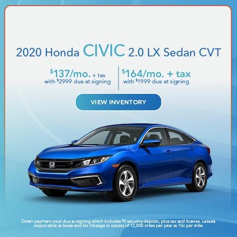 2020 Honda Civic 2.0 LX Sedan CVT