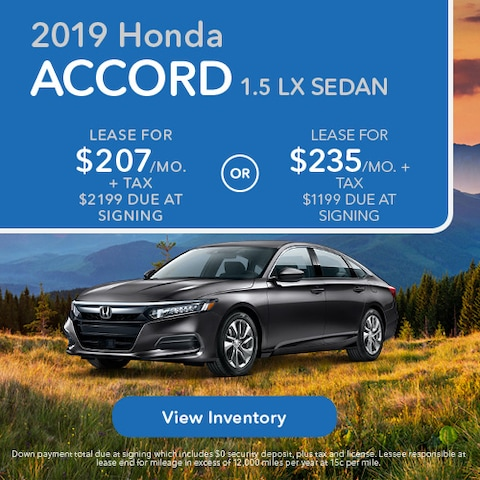 2019 Honda Accord 1.5 LX Sedan - Lease